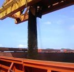 Loading of Iron Ore Sinter Feed in Brazil
